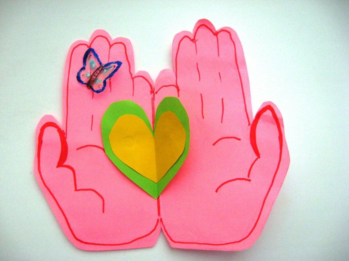 Детские открытки к дню мамы своими руками