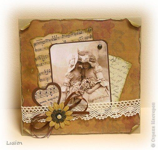 Винтажные открытки своим руками