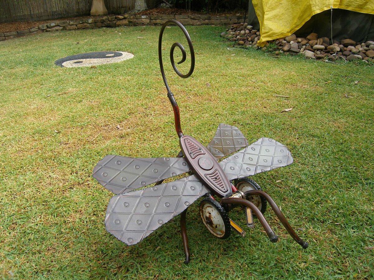 Садовая инсталляция своими руками