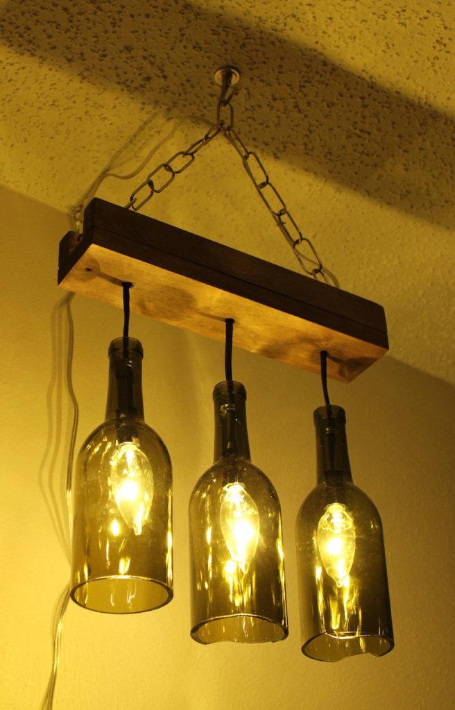Как сделать лампу из бутылок