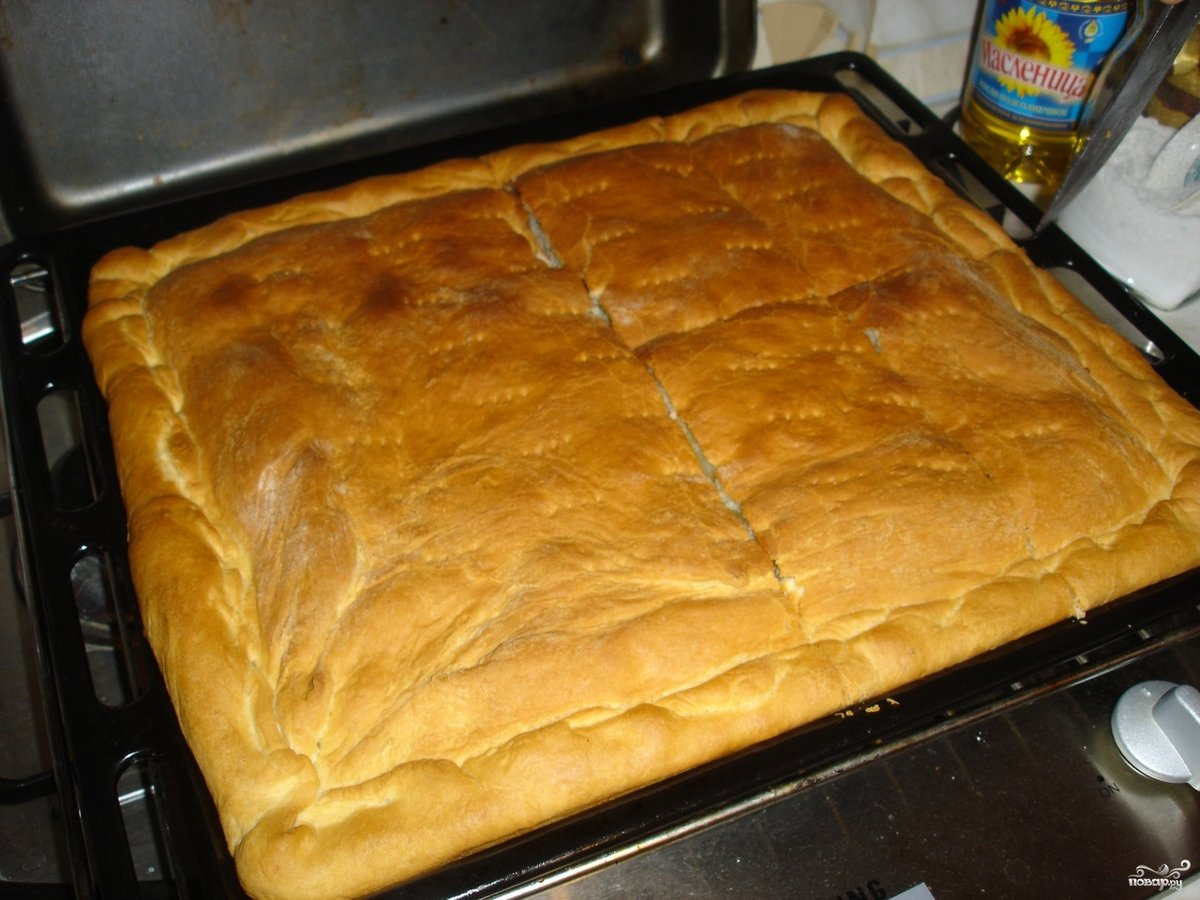 Пироги на скорую руку на кефире пошагово