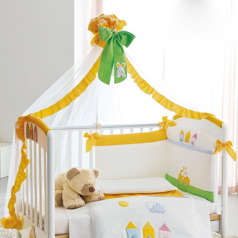 Кроватка с балдахином для новорожденного своими руками 50