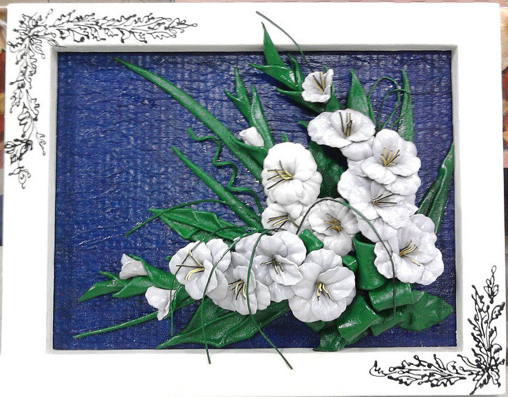 Объемные картины цветы своими руками 9