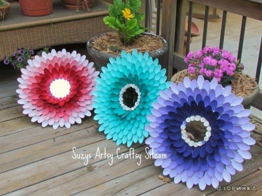 Цветы поделка из подручных материалов 23