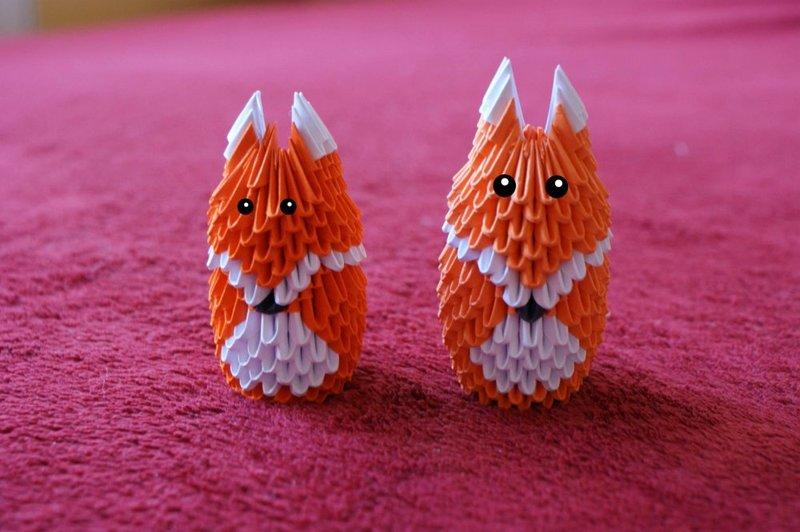 Поделки модульное оригами животных