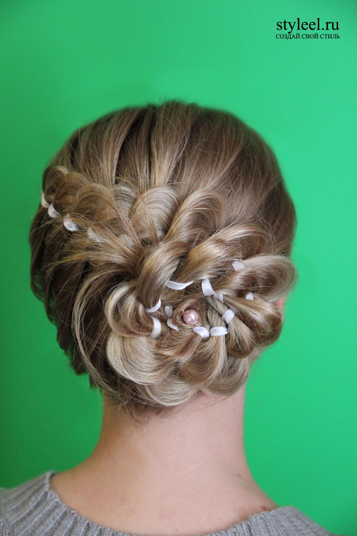 Прически плетеные волосы фото