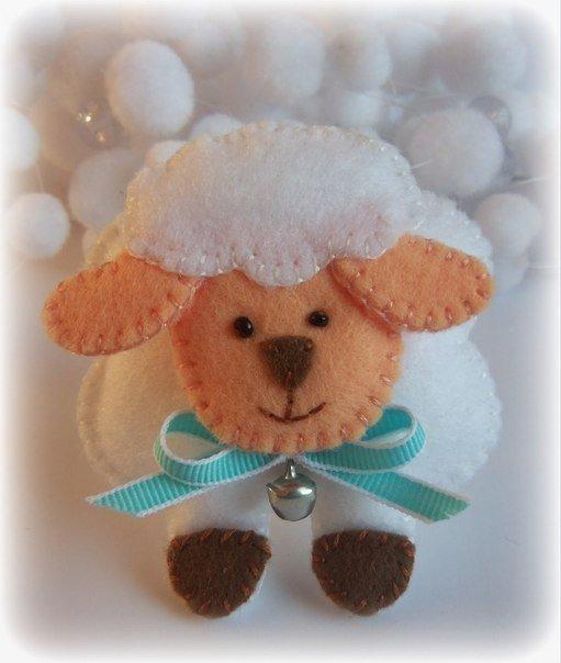 Овца из фетра своими руками
