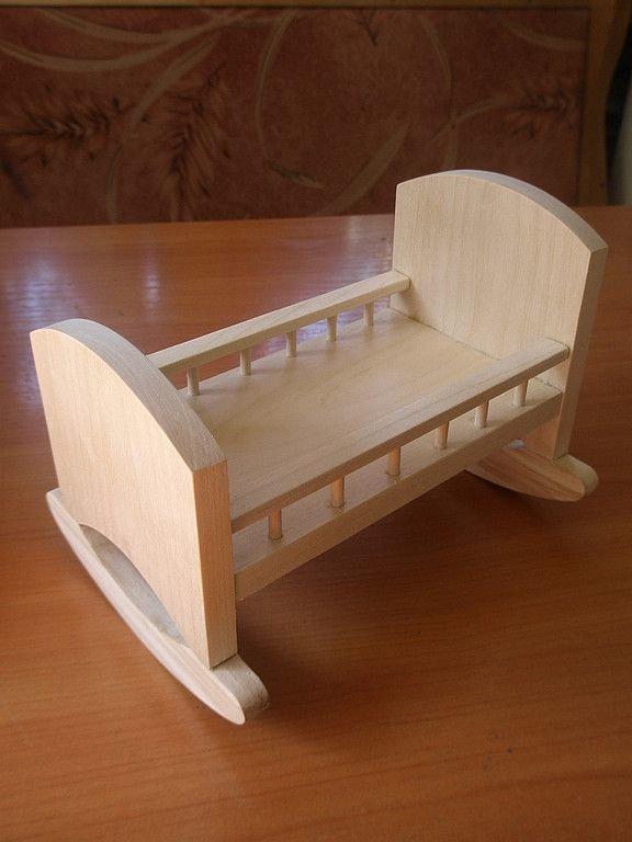 Кроватка для куклы своими руками из дерева своими руками 32