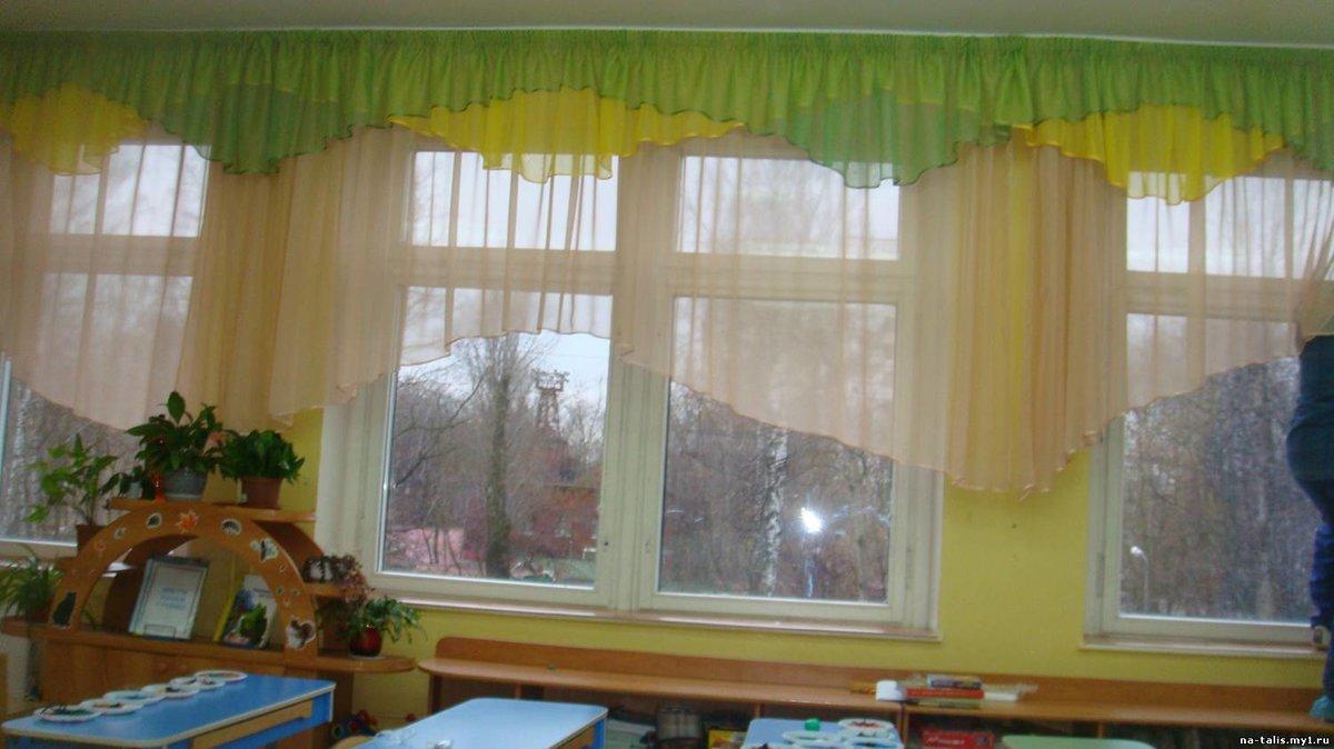 Как сшить шторы в детский сад 148