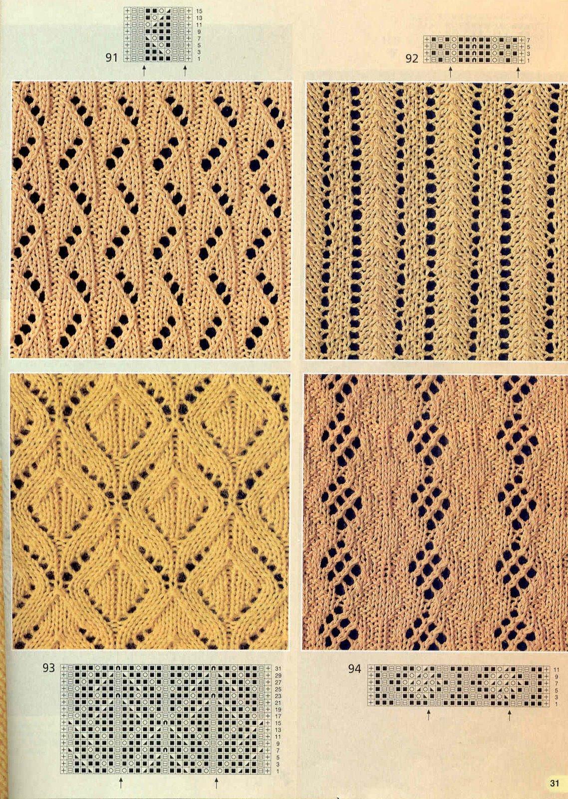Ажурное вязание простые узоры
