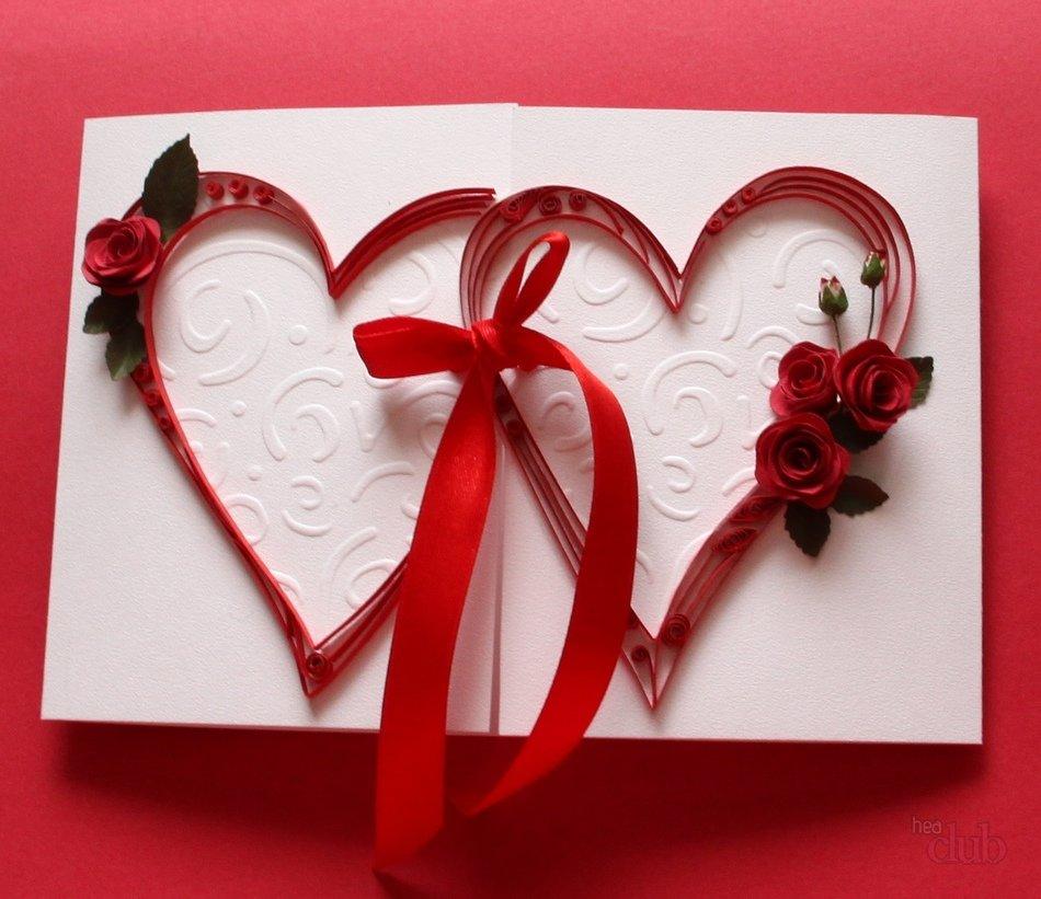 Открытки в день святого валентина  квиллинг 94