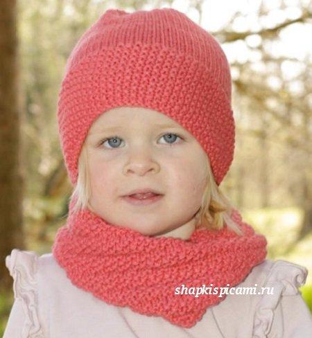 Вязаная шапка для ребенка своими руками