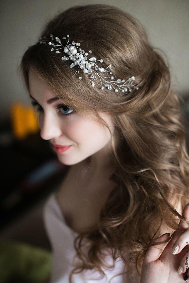 Украшения на волосы свадебные