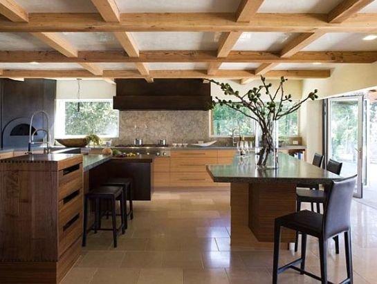 Фото дизайн балок в частном доме