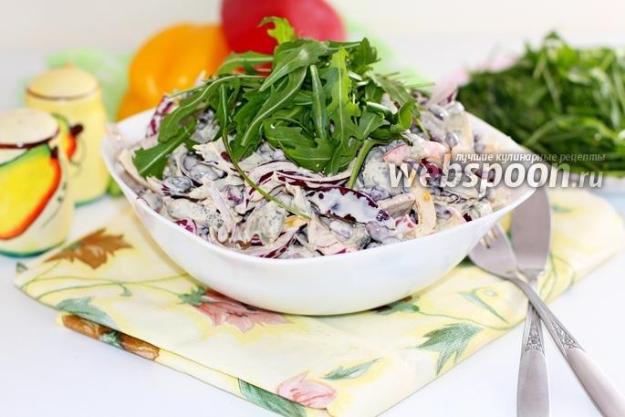 Салат с красной фасолью рецепты с пошагово