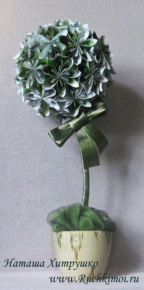 Топиарий из купюр цветок своими руками
