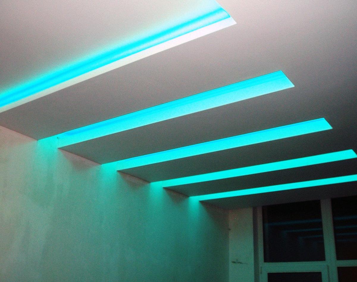 Гипсокартонный потолок с подсветкой Decor 4 House 41