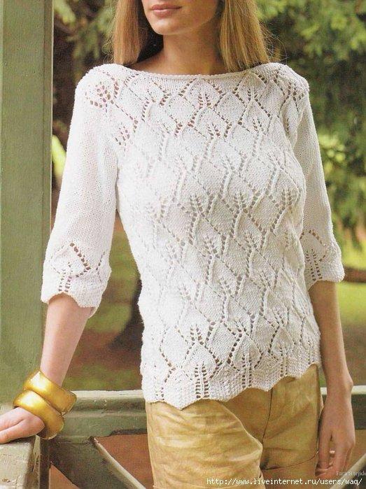 Вязание спицами хлопок модели