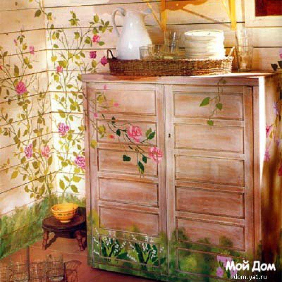 Декупаж на старой мебели своими руками