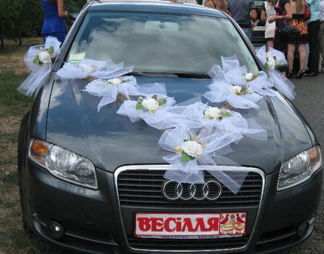 Как сделать ленты для свадебных машин своими руками 118