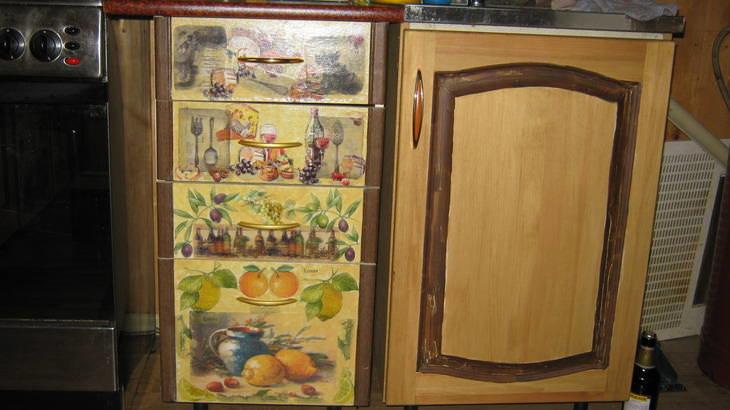 Декупаж кухонной стенки своими руками 73