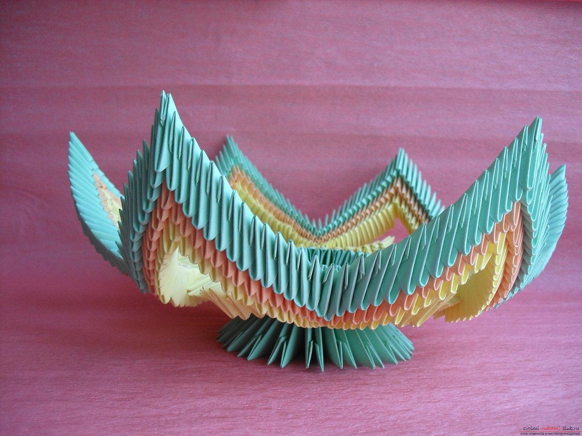 Как сделать из оригами самовар