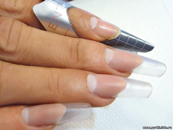 Наращивание ногтей с пошагово