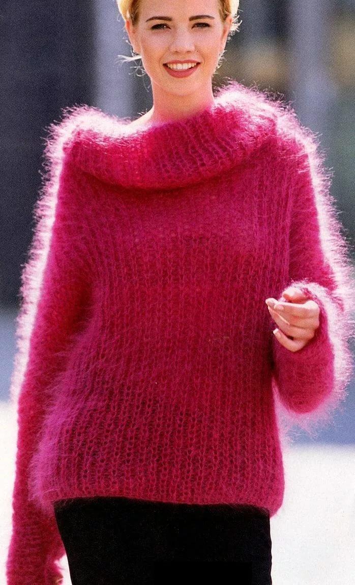Вязание из мохера свитеров 788