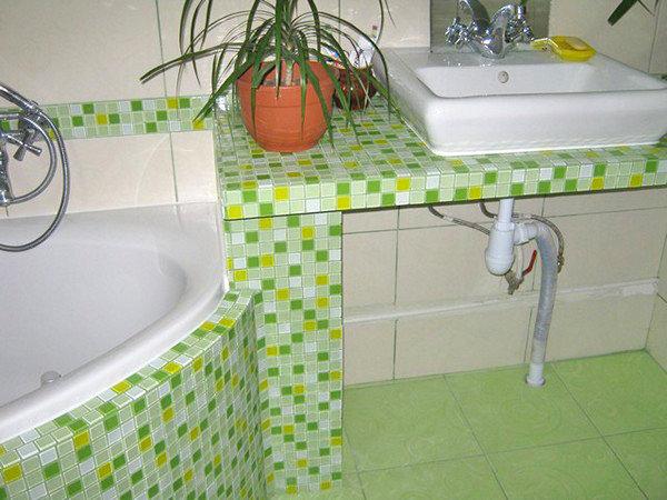 Полка в ванной под раковину своими руками 45