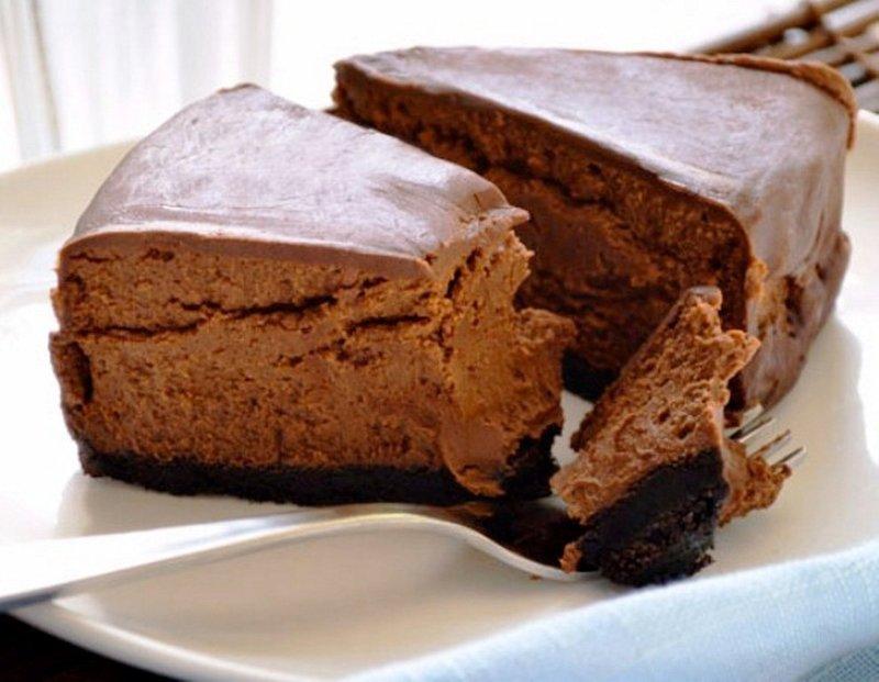 Шоколадный чизкейк из творога рецепт без выпечки из печенья