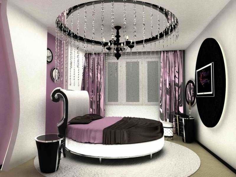 Дизайн спальни круглой кроватью