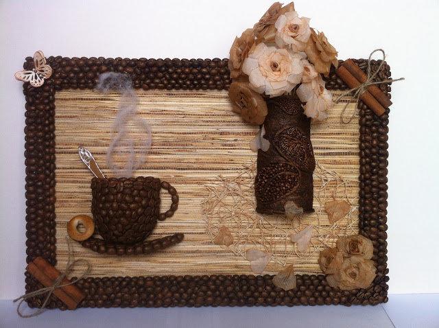 Панно своими руками кофейные зерна 145