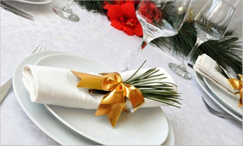 Декор салфеток для праздничного стола