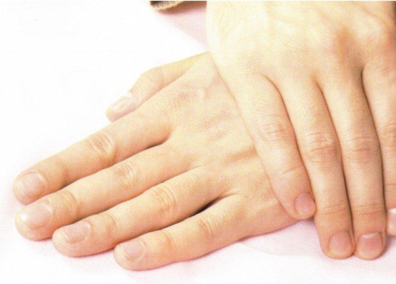 Женские руки без маникюра