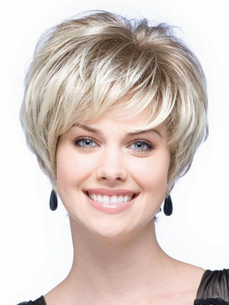Фото женских стрижек на короткие волосы для полных женщин 40 лет