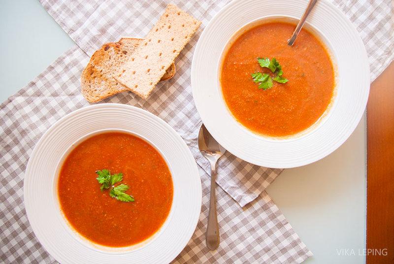 Суп из помидор рецепт с пошагово