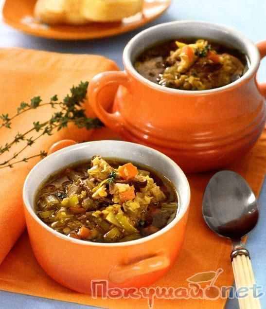 Грибной суп с чечевицей рецепт пошагово