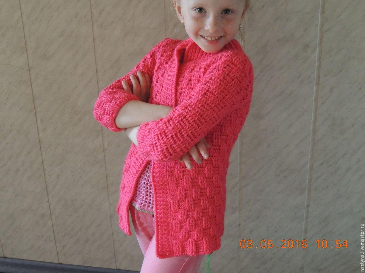 Вязание крючком кардиган для девочки 6 лет 63