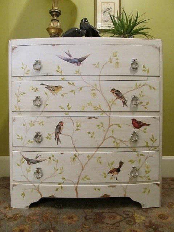 Декупаж для декора мебели