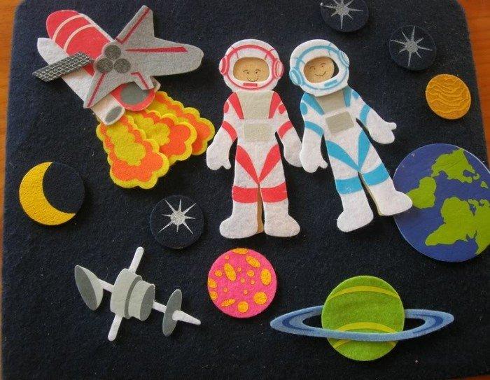 Поделка на день космонавтики с детьми