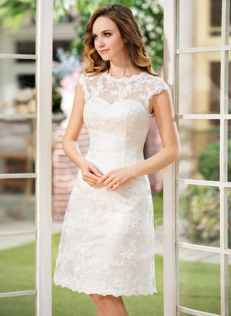 Платья свадебные прямые до колена