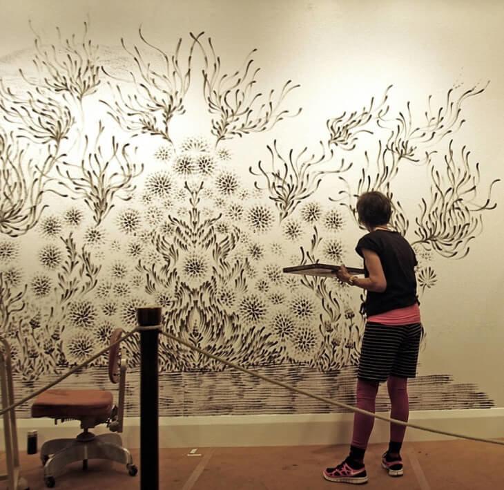 Как сделать красивый рисунок на стене