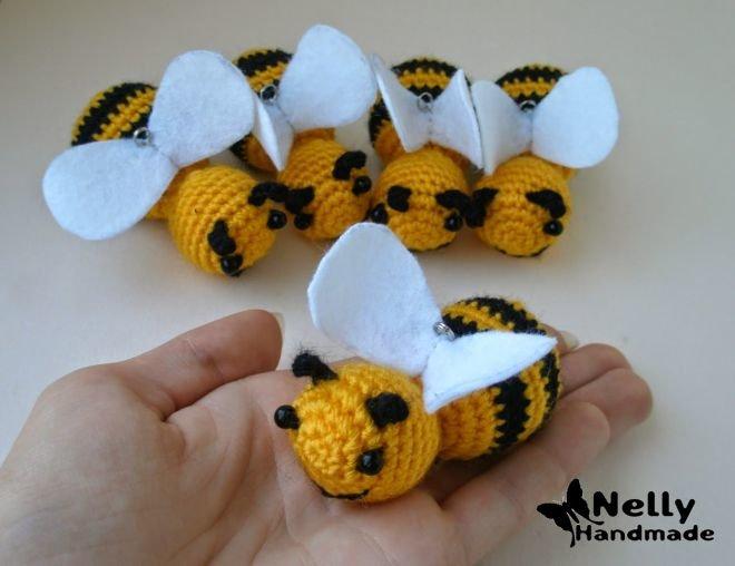 Пчелка связанная крючком мастер класс