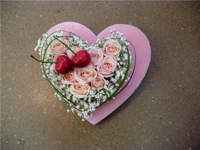 Цветы ко дню валентина своими руками 1030