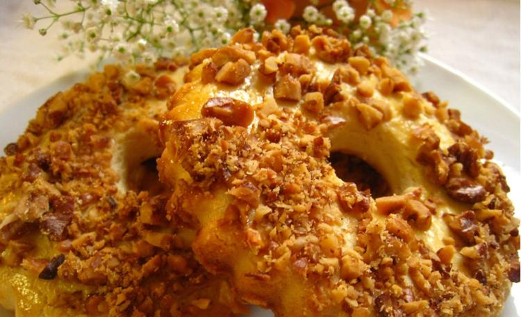 Песочное кольцо с орехом рецепт пошагово
