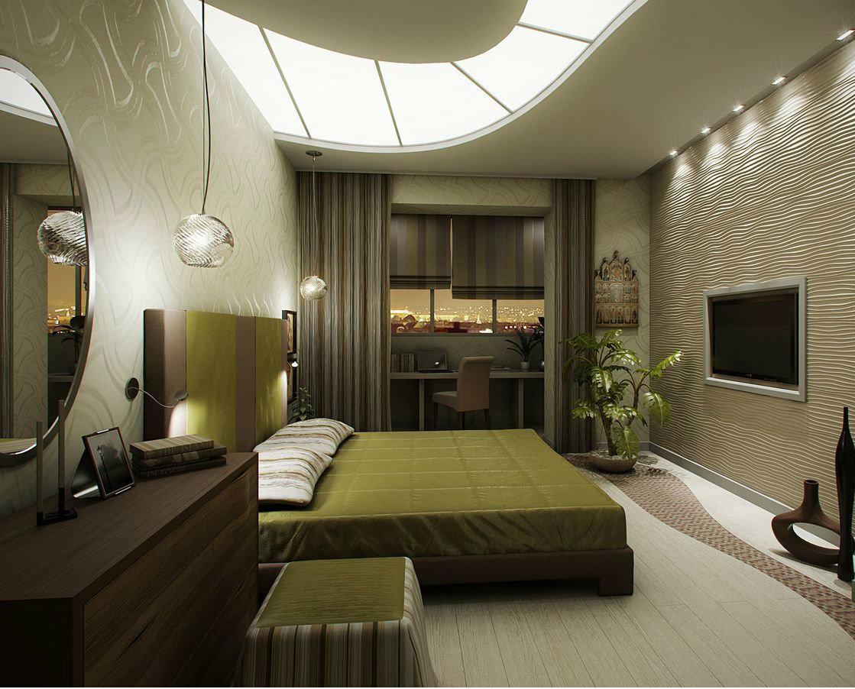 Фото идеи кабинет совместит спальня