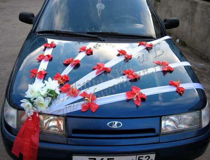 Украсить машину для свадьбы своими руками 88