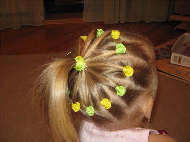 Прически на короткий волос своими руками детям 304