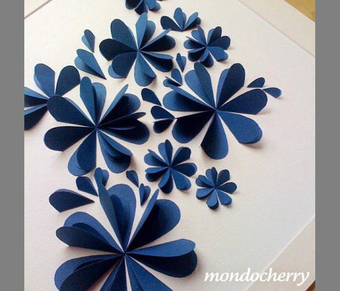 Объемный цветок из бумаги на открытку