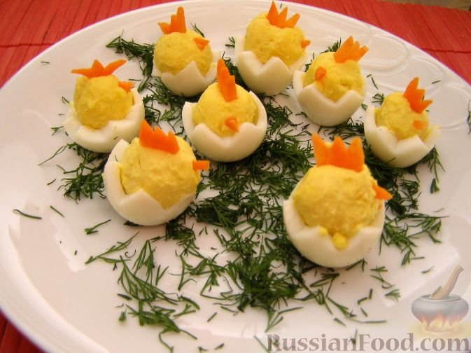Фото цыплята на салат из яиц